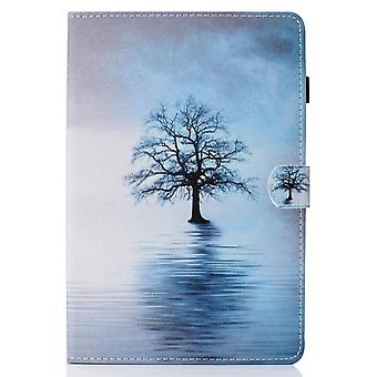 Case For Ipad 9 10.2 2021 Cover With Auto Sleep/wake Pattern Magnetic - Tree