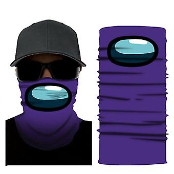 (Lila) Unter uns Spiel Multi Use Gesichtsmaske Sturmhaube Schal Snood Hals Wärmer Bandana