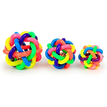 Premium Rubber Dog Balls - Pack Of 3 Non-toxic And Bite Resistant Toy For Large And Small Dogs S / M