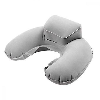 Inflatable Travel Pillow Neck Pillows For Sleeping Bag Outdoor Travel Backpacking Compressible, Gray