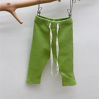Pants Casual Harems Trousers Bottoming Pant Ribbed Elastic