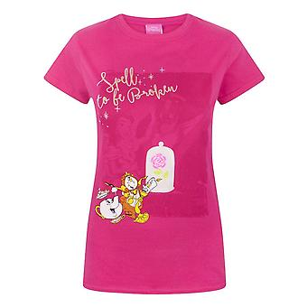 Disney Womens/Ladies Beauty And The Beast Spell To Be Broken T-Shirt