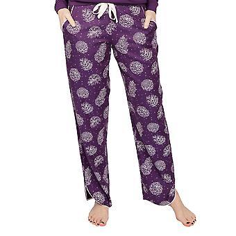 Cyberjammies Margo 4974 Women's Purple Pinecone Cotton Pyjama Pant