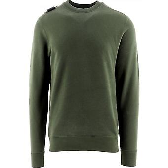 MA.STRUM Green Core Crew Neck Sweatshirt