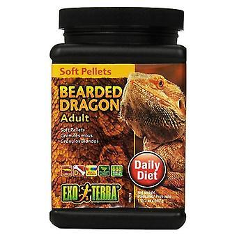 Exo Terra Soft Pellets Adult Bearded Dragon Food - 19 oz