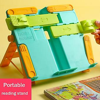 Adjustable Bookshelf Reading Shelves Student Children's Book Clips Books Relying On