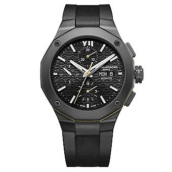 Baume & Mercier M0a10625 Riviera Black Silicone Automatic Chronograph Men's Watch