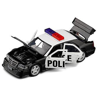 Toy cars child toy police car 1/32 mercedesbenz c class alloy model car racing cars black