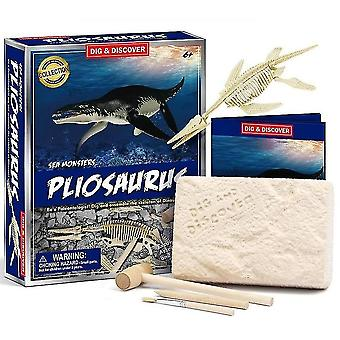 Kinderen 6+ educatieve diy dinosaurus fossiele archeologische graven speelgoed (D7144)