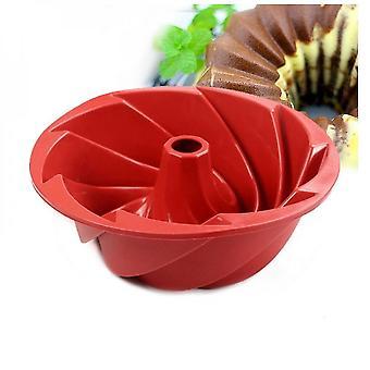 9,76 Zoll große spiralförmige Silikon-Kuchenform-Form