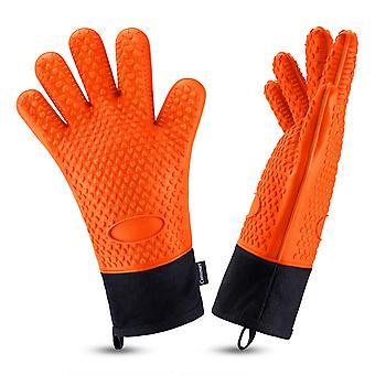 Rękawice do grillowania Żaroodporne silikonowe rękawice do grillowania Wodoodporne rękawice kuchenne