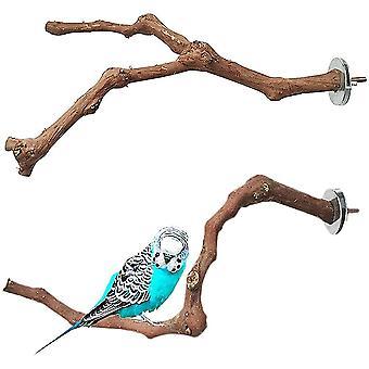 Wooden Bird Toys Parrot Wood Perches Natural Wood Perch Wooden Feet Perches 2pcs
