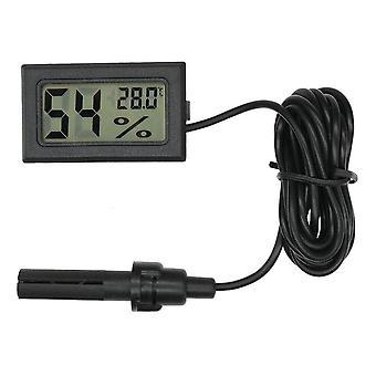 Mini Lcd Cyfrowy termometr wilgotności temperatury Zewnętrzny higrometr Miernik sondy