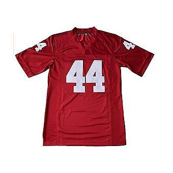 Форрест Гамп #44 мужской футбол Джерси сшитые письма и цифры фильм Джерси Красный S-3xl