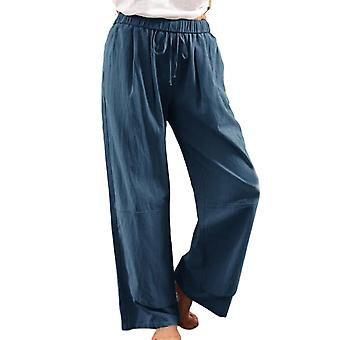 kvinners uformelle drawstring polyester bukser solid farge sommer mote løs størrelse