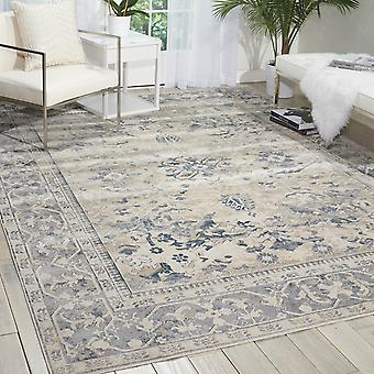 Malta Rugs Mai05 By Kathy Ireland In Ivory And Blue