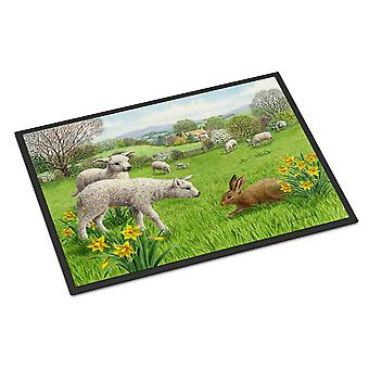 Schapen, lammeren en konijn Haas Indoor of Outdoor Mat 18 x 27