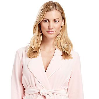 Féraud 3883035-10013 Women's Peach Pink Cotton Robe Loungewear Bath Dressing Gown