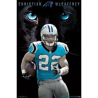 Carolina Panthers - Christian McCaffrey Juliste Tulosta