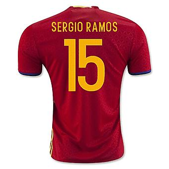 2016-2017 Španělsko domácí košile (Sergio Ramos 15)