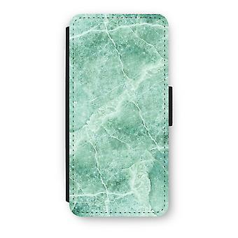 iPhone 5/5 s/SE Flip Case - grünem Marmor