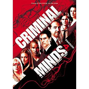 Criminal Minds - kriminell sinn: sesong 4 [DVD] USA import