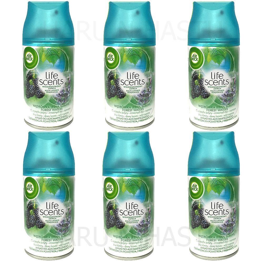 6 X Air Wick Freshmatic Max Automatic Spray Refill 250Ml - Forest Waters