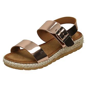 Mesdames Savannah corde basse Wedge Sandals F10804