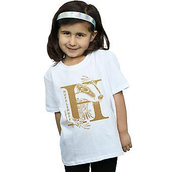 Harry Potter Girls Hufflepuff Glitter T-Shirt