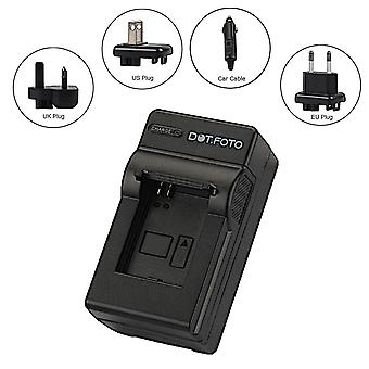 Dot.Foto Sanyo DB-L20, DB-L20EX Travel Battery Charger [See Description for Compatibility]