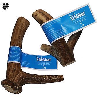 Stagbar hjorthorn hundvalp tugga leksak EXTRA stor
