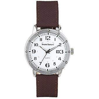 Relógio de pulso relógio de Bruno Banani da GEROS BR30003 analógico de couro