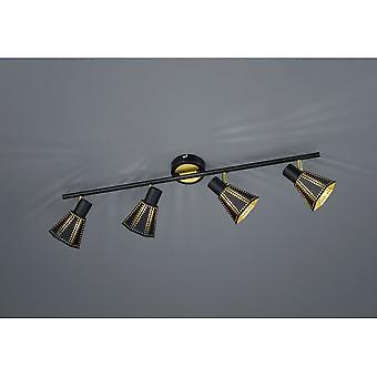 Trio belysning Houston moderna svart Matt metall Spot