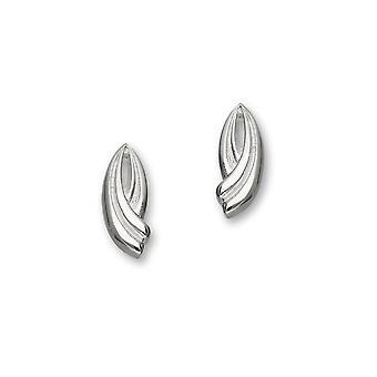 Sterling Silver traditionella samtida moderna trendiga Twirls Design par örhängen - E1089