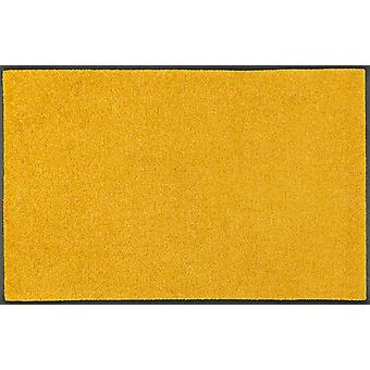 wash + dry trend colour honey gold washable floor mat 7 sizes golden yellow