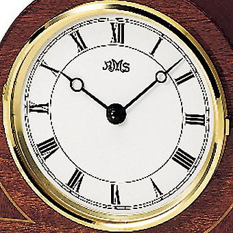 nostalgic wooden table clock table clock quartz body mahogany pianofinish