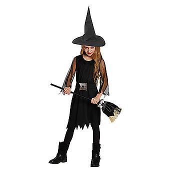 Heks kjole svart heks barn kostyme