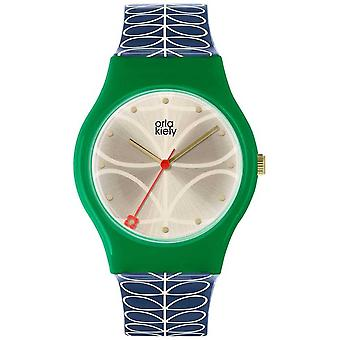 Orla Kiely dames Bobby Green en marineblauw OK2224 Watch