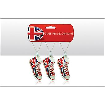 Union Jack Wear Union Jack Glass Christmas Tree Decoration