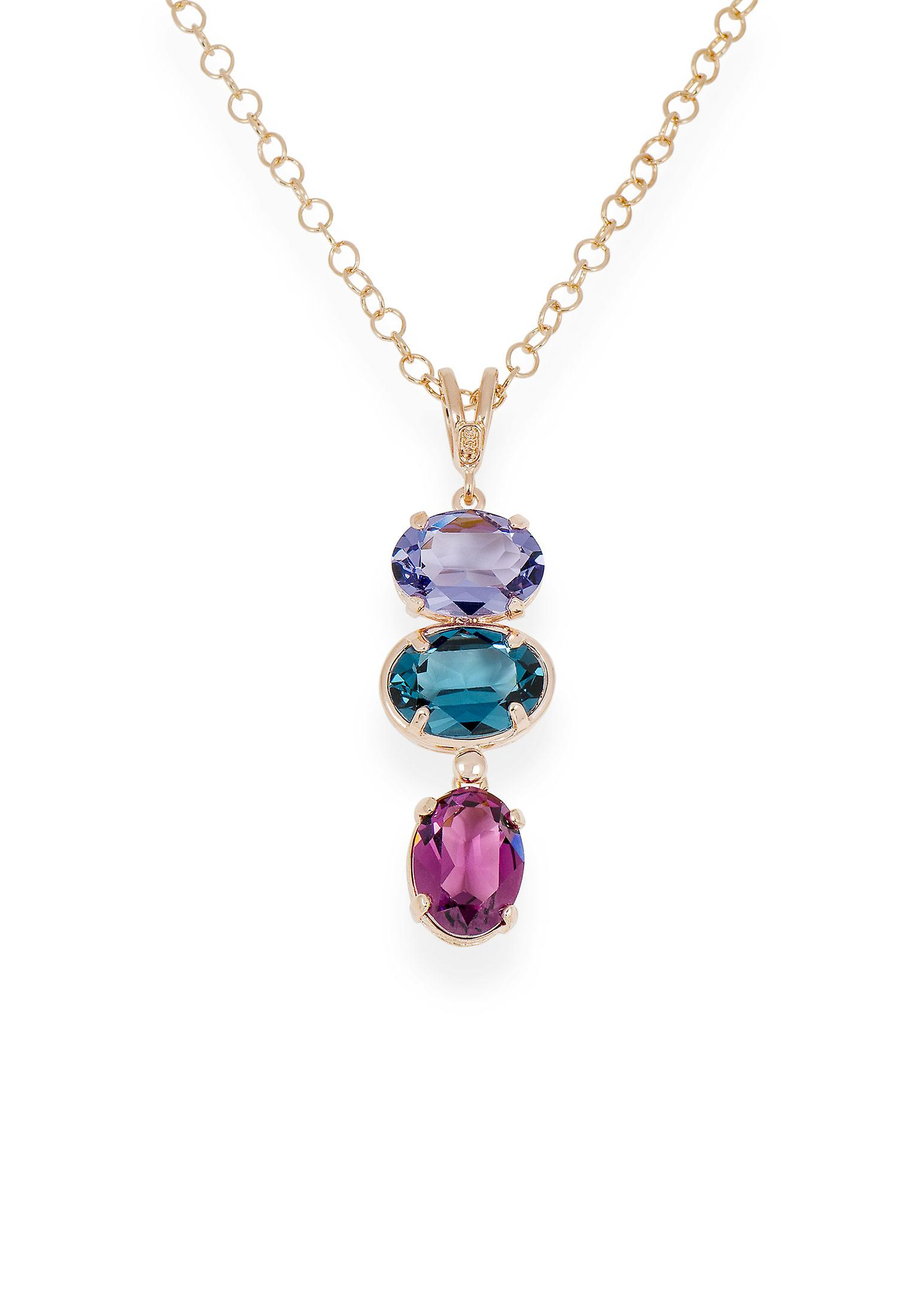 Multicolor pendant with crystals from Swarovski 9250