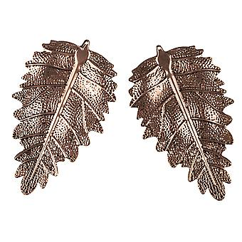 TRIXES 2PC Pack Hanging Copper Leaf Christmas Decoration Gift