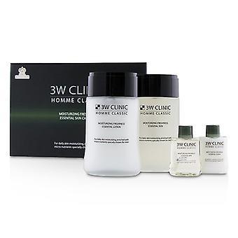 3W klinikka Homme Classic - kosteuttava tuoreus tärkeää ihon hoito asettaa: tärkeää ihon 150 ml + 30 ml + välttämätöntä Lotion 150 ml + 30 ml - 4kpl