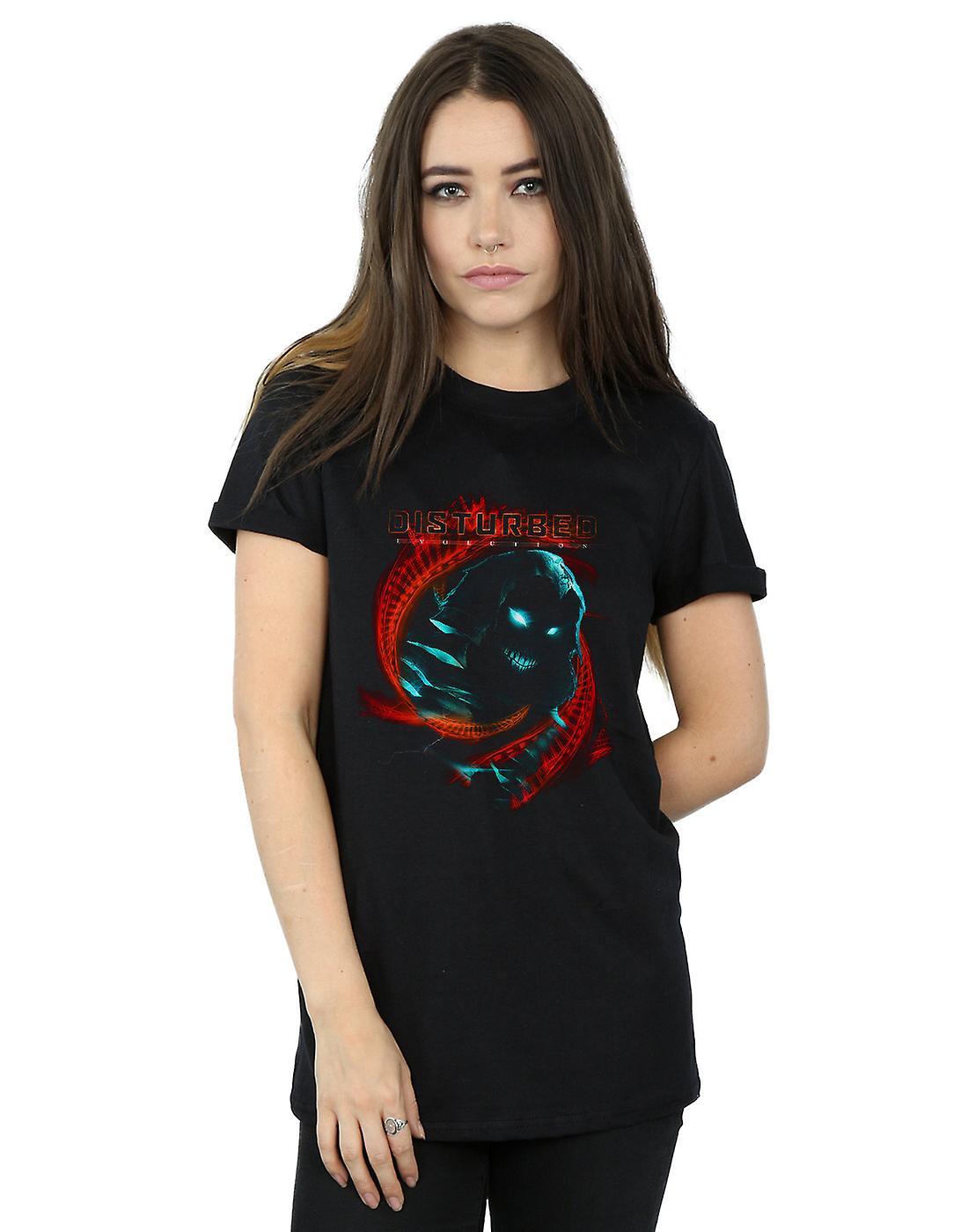 Disturbed Women's DNA Swirl Boyfriend Fit T-Shirt