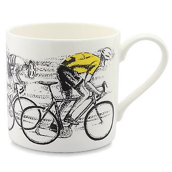 Mclaggan Picturemaps, Sprint Finish Yellow Jersey Mug