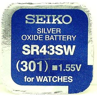 Seiko 301 (sr43sw) 1.55v Silver Oxide (0%hg) Mercury Free Watch Battery - Made In Japan