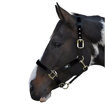 Hy Deluxe Padded Head Collar - Black - Pony