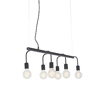 QAZQA moderne Pendelleuchte Lampe 6 schwarz - Facile