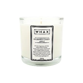 Rhubarb & candy apple handmade scented candle