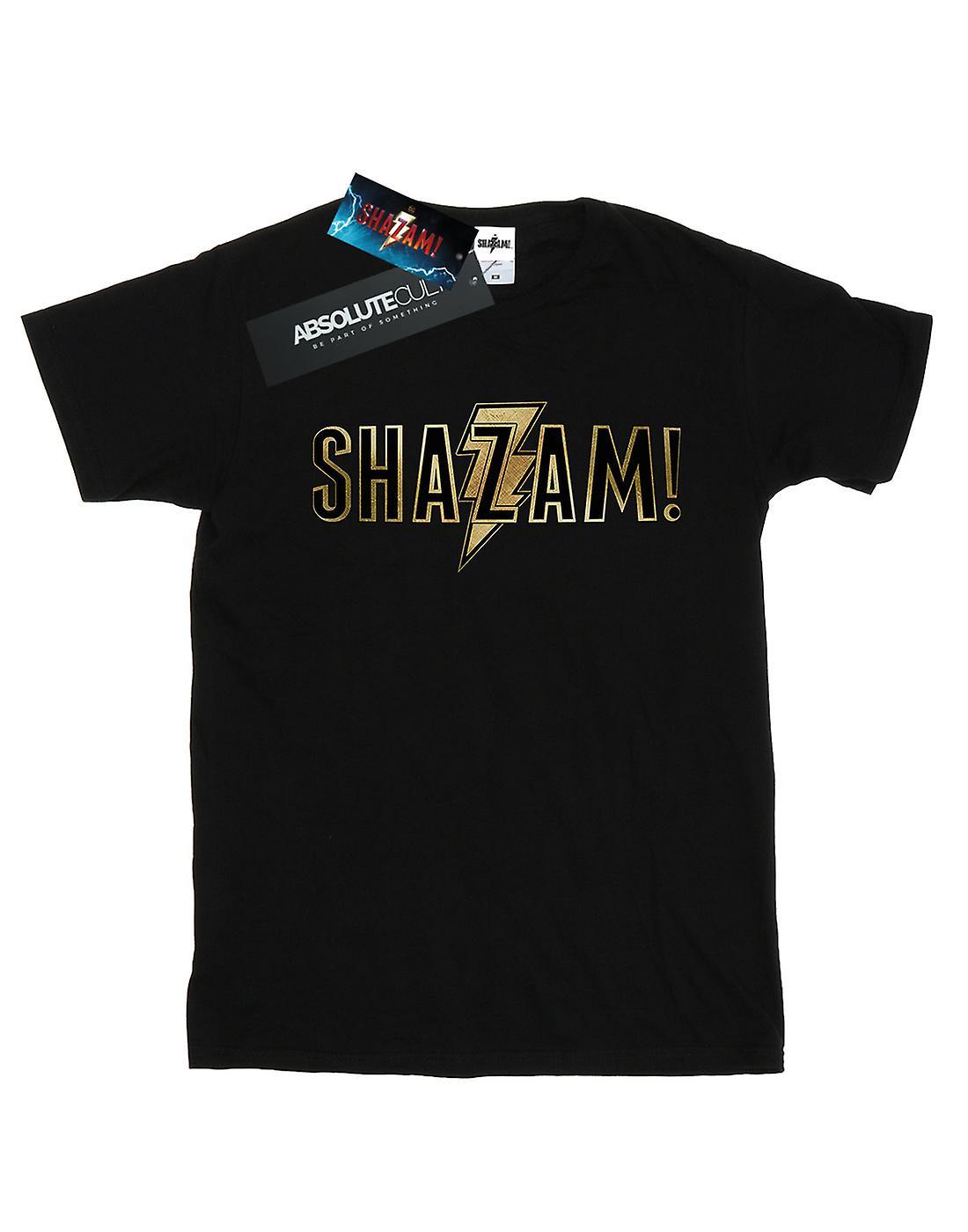 DC Comics Men's Shazam Text Logo T-Shirt