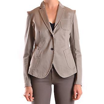 Neil Barrett Ezbc058023 Women's Beige Cotton Blazer